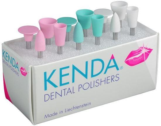 KENDA головка полировальная в форме чашки, диска, конуса (розовый цвет)