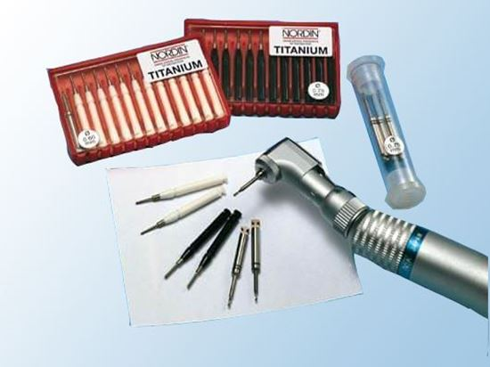 Парапульпарные штифты 12шт + развертка (Titanium Dentine Retention Pins)