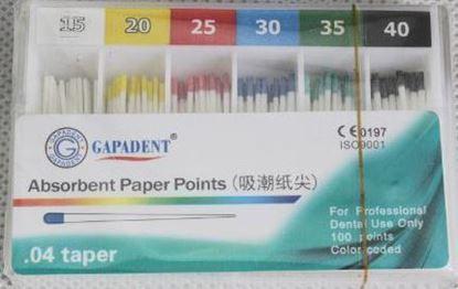 Бумажные штифты 04 (Absorbent Paper Points) 100шт