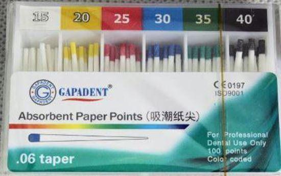 Бумажные штифты 06 (Absorbent Paper Points) 100шт