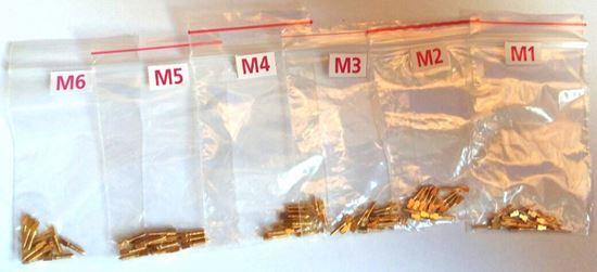 Позолоченные штифты M 12шт (латунные, анкерные)