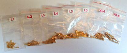 Позолоченные штифты L, XL 12шт (латунные, анкерные)