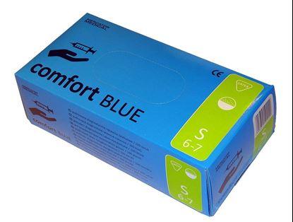 Comfort Blue перчатки латексные опудренные (Комфорт блу)