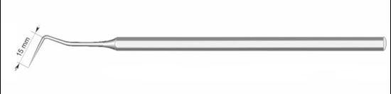 Зонд зубной изогнутый I=15мм 080-001