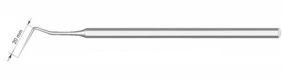 Зонд зубной изогнутый I=20мм 080-002