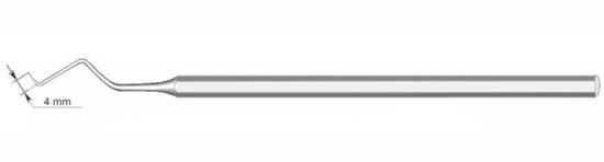 Зонд зубной изогнутый с подсечкой (левый) 080-004