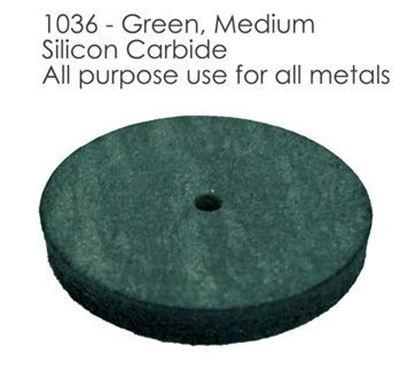Полировальный резиновый круг зеленый 1036