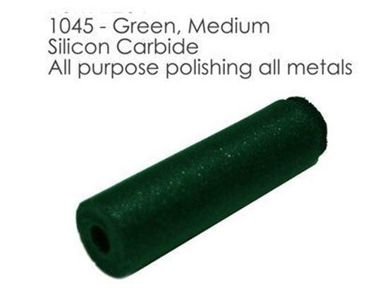 Полировальная резинка зеленая цилиндр 1045