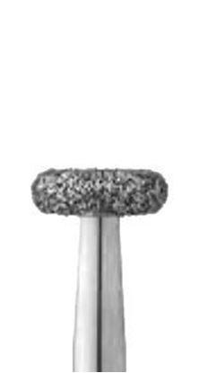 Колесовидная закругленная по бокам форма бор алмазный