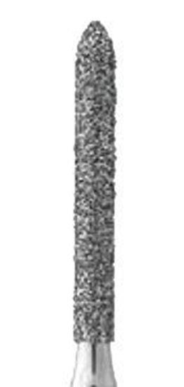 Цилиндрическая с конусом на торце форма бор алмазный