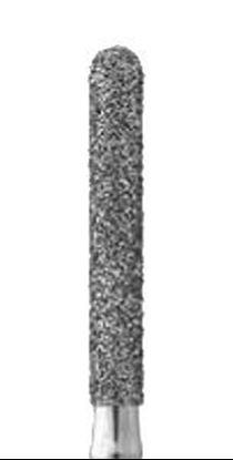 Цилиндрическая с полусферой на торце форма бор алмазный