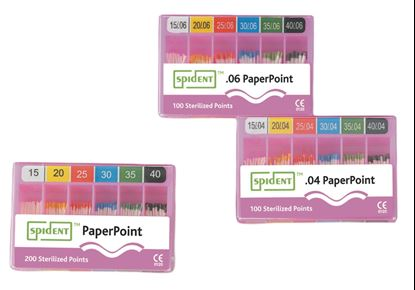 Бумажные штифты 02 (Absorbent Paper Points) 200шт